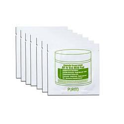 Делікатні диски для очищення, м'якого пілінга і зволоження Purito Centella Green Level All In One Mild Pad