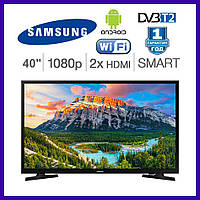 "Телевизор 40"" Samsung Smart TV FullHD Android T2 WiFi IPTV Телевизоры Самсунг"