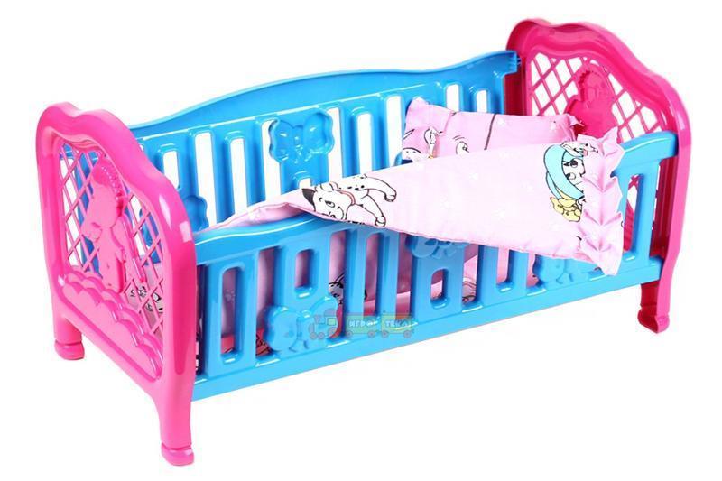 Кроватка для куклы Технок 4494