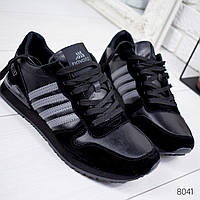 Кроссовки мужские в стиле Adi черные 8041, фото 1