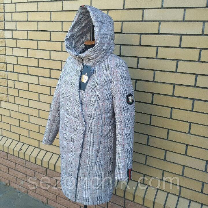 Удлинённая женская осенняя куртка хорошего качества