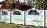 Забор секционный бетонный (РАССРОЧКА НА 4 МЕСЯЦА) Киев-Одесса глухой, фото 1