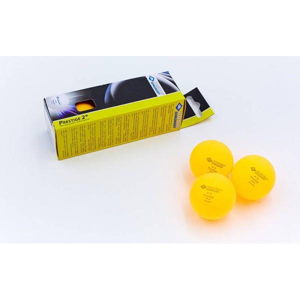 Набор мячей для настольного тенниса 3 штуки DONIC PRESTIGE 2star (оранжевый)