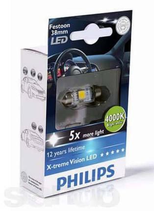 Philips C5W Festoon 12858 (38мм) 4000K, фото 2