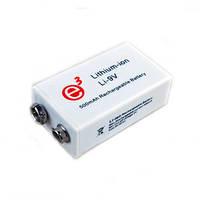"""Самый ёмкий в мире аккумулятор 9V типа """"Крона"""" с ёмкостью 500 mAh, рассчитанный на 1000 циклов зарядки"""