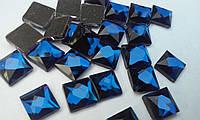 Стрази термоклеєві, Квадрат 8*8 мм, Montana (темно синій), фото 1