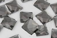 Стрази термоклеєві, Квадрат 8*8 мм, Black Diamond (сірий), фото 1