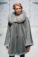 Пальто Пончо сіре, фото 1