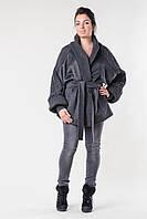 Пальто Тіфані темно-сіре, фото 1