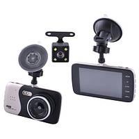 Автомобильный видеорегистратор AKLINE DVR X 600 с двумя камерами 1080P Full HD металл Черный KD-5, КОД: 351829