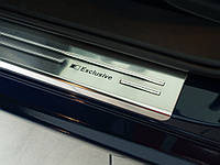 Нержавеющие защитные накладки на пороги для Mazda 6