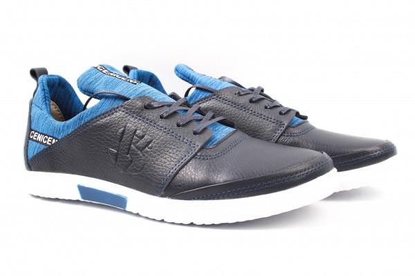 Туфли спорт Visazh натуральная кожа, цвет синий
