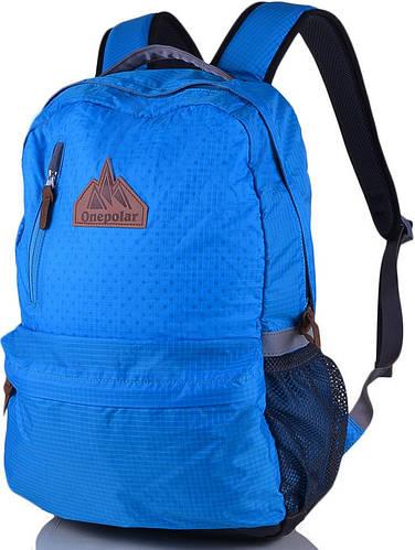 """Удобный рюкзак 25 л. с отделением для ноутбука 16"""" ONEPOLAR (ВАНПОЛАР) W1766-blue"""