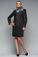 Пальто Версаль чорне, фото 1