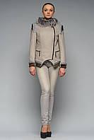 Пальто Злата світло-сіре, фото 1