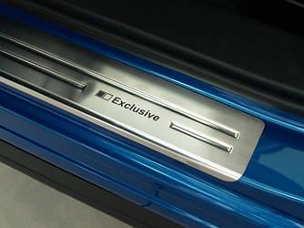Нержавеющие накладки на пороги для Mazda CX 5