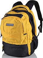 """Яркий рюкзак 25 л. с отделением под ноутбук 16"""" ONEPOLAR (ВАНПОЛАР) W1331-yellow желтый"""