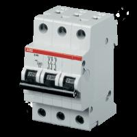 Миниатюрный автоматический выключатель ABB S203. 3P 6A (C) 6kA