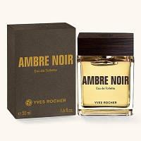Yves Rocher AMBRE NOIR - ЧЕРНАЯ АМБРА Туалетная Вода Ambre Noir ив роше одеколон франция 50мл, фото 1