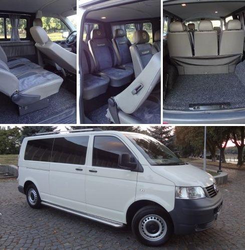 пассажирский  Volkswagen T5 ( 7 мест ) ― комфортабельный  автомобиль,  перевозка туристов с большим объемом багажа на расстояния до 700 км ( в одну сторону), преимущественно в Польшу, Словению, Венгрию, Румынию, Словакию, Чехию.