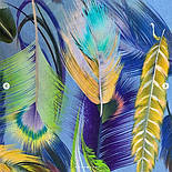Палантин из вискозы 10811-13, павлопосадский палантин из вискозы, размер 65х200, фото 4