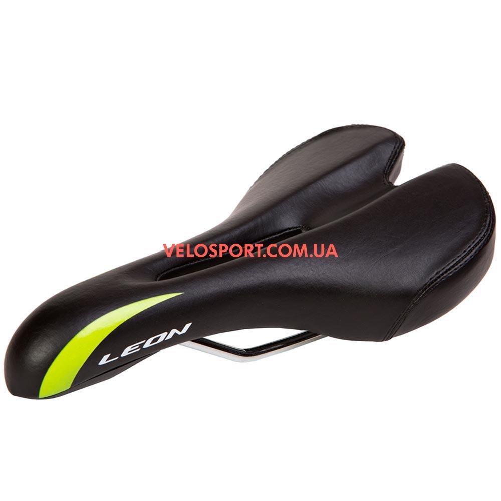 Велоседло K.San YBT-6557 LEON черно-салатный