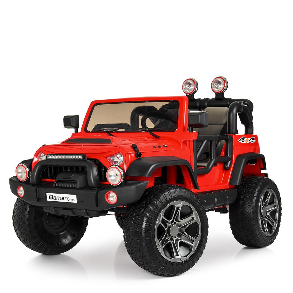 Детский электромобиль Джип M 4111EBLR-3 красный Гарантия качества Быстрая доставка