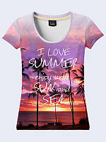 Женская футболка I LOVE SUMMER