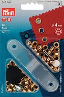 Блочки для ремня (латунь) золотистый цв.d-4,0 мм