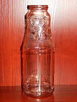 Бутылка стеклянная 1 л с горловиной твист 53 мм (12 штук в упаковке)