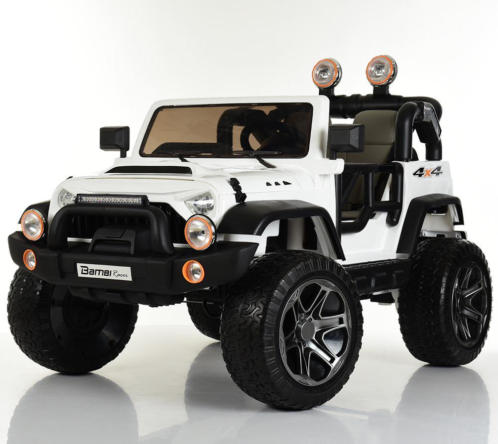 Детский электромобиль Джип M 4111EBLR-1 белый Гарантия качества Быстрая доставка