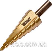Сверло коническое ступенчатое по металлу  HSS 4241 Ø= 4-20 мм STHOR 22611