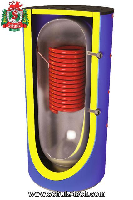 Буферная емкость с одним теплообменником