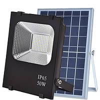 VARGO!Уличный LED светильник(прожектор) SX-50W на солнечных батареях с пультом.