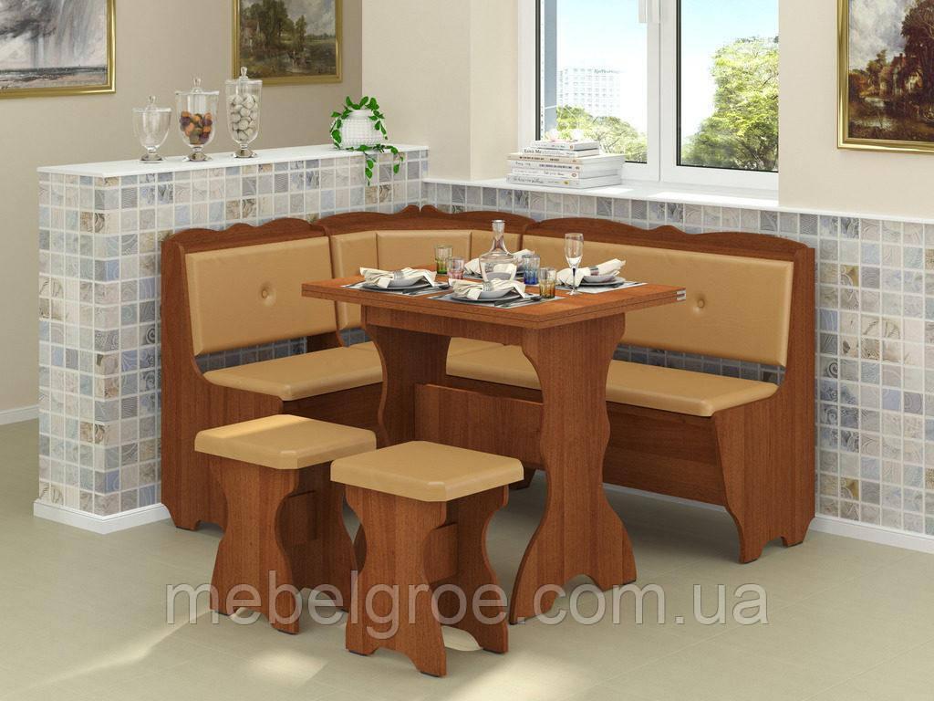 Кухонный уголок Лорд с раскладным столом и табуретами тм Пехотин