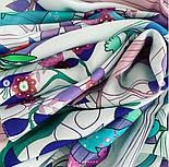 Палантин из вискозы 10812-11, павлопосадский палантин из вискозы, размер 65х200, фото 9