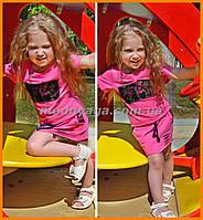 Дитячий літній костюм для дівчинки | Детский летний костюм для девочки