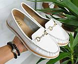 Туфли лоферы белые, мокасины из натуральной кожи все размеры, фото 3