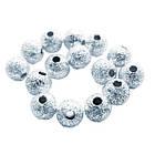 Намистини Круглі Дрібні з Напиленням Метал, Колір Срібло, Розмір Діаметр 4 мм, Отв 1мм, 10 м/близько 97 шт. Намисто, фото 3