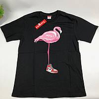 Футболка Supreme Flamingo Jordan (черная) XL
