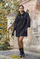 Пальто Дасса чорне, фото 1