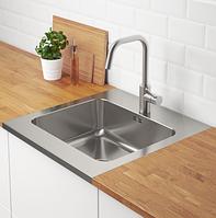 Мойка кухонная из нержавеющей стали Ikea AMMERÅN 591.581.64, фото 1
