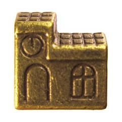 Намистини Будинок Метал, Набір 10 шт, Колір Бронза, Розмір 11*10*7 мм., Отв. 5 мм. Намисто.