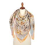 10730-2, павлопосадский платок из вискозы с подрубкой, фото 2