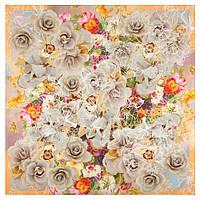10730-2, павлопосадский платок из вискозы с подрубкой, фото 1