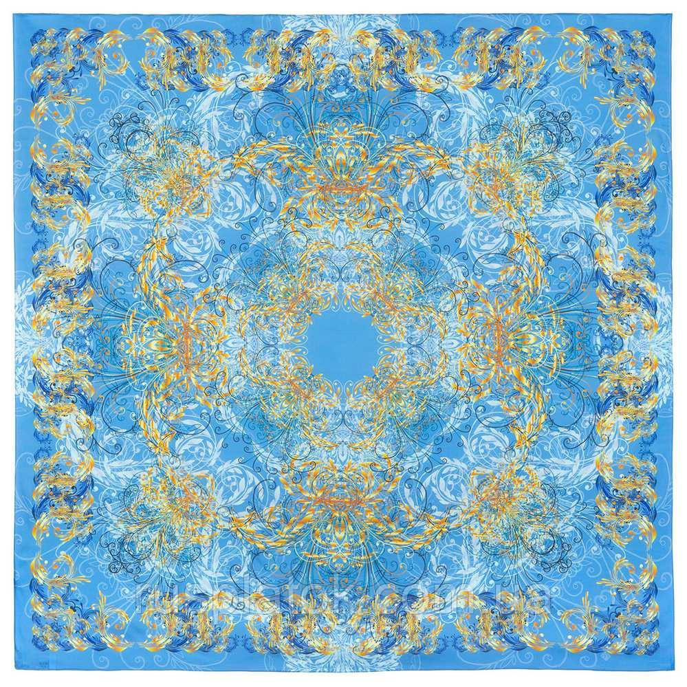 10826-13, павлопосадский платок из вискозы с подрубкой