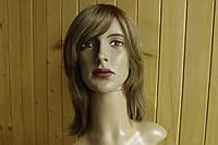 Женский паричек из натуральных славянских волос, русый. Имитация кожи головы.
