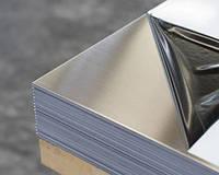 Лист нержавеющий   AISI 304 0,8Х1000X2000 мм Зеркальная (ВА)