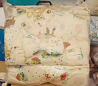 Защита для детской кроватки Персиковая Зайчик