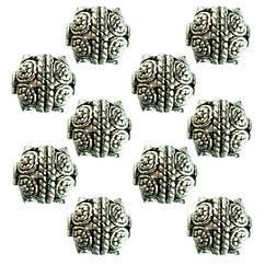 Намистини Тибет Метал Набір 10 шт., Колір Срібло, Розмір 9*10*9 мм, Отвір 1,5 мм. Намисто.